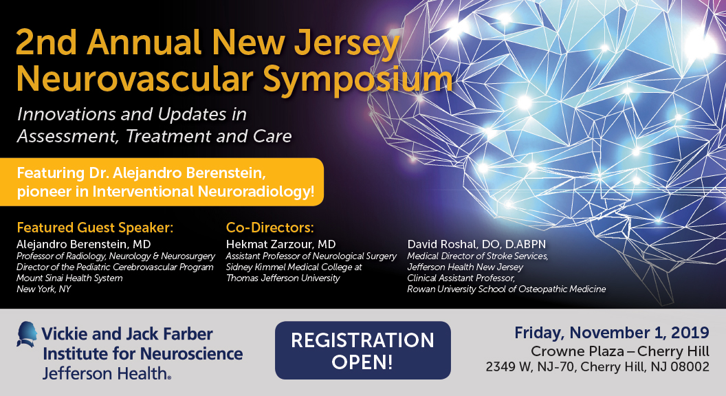 2nd Annual New Jersey Neurovascular Symposium | SKMC Office