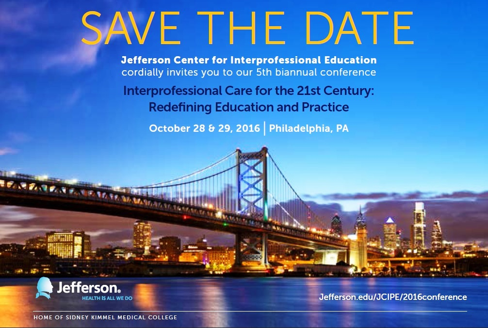 Save the Date! The 2016 JCIPE Conference is set for October 28-29!